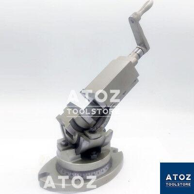 2 50mm Precision Milling Machine Vise 3 Way Swivel Tilt Angle Vice Hardened Jaw