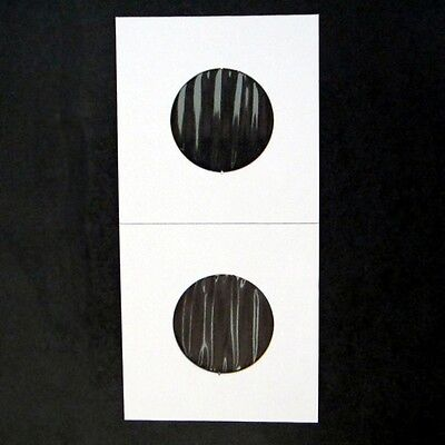 (50) Quarter Size 2x2 Mylar Cardboard Coin Flips for Storage | 25 Cent Holders