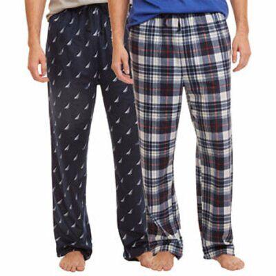 Nautica Men's Sueded Fleece Pajama Pants 2 Pack ()