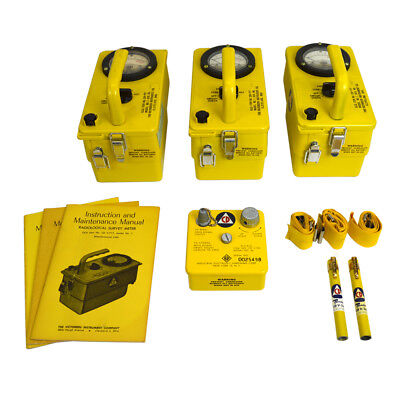 Cd V-777 Vintage Civil Defense Radiation Fallout Detection Kit Set W Box