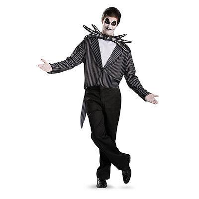 Jack Black Costume (Jack Skellington Costume Nightmare Before Christmas Black Skelington Mens)
