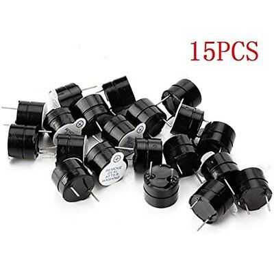 Warning Alarms 15pcs Active Piezo Buzzer 12mm Dia Dc 5v Terminals Electronic Fpv