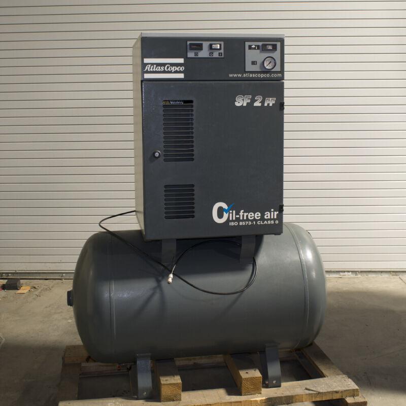 Atlas Copco SF2 Dry Scroll Air Compressor/Dryer 7cfm 230/460V TESTED 80 Gallon