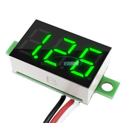 0.36 Dc 0-30v Led Panel Voltage Meter 3-digital Display Voltmeter 3-wires Green