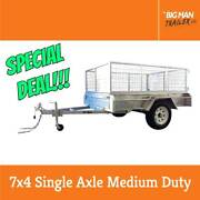 7X4 Galvanized Single Axle Fully weld Trailers With Cage Dandenong Greater Dandenong Preview