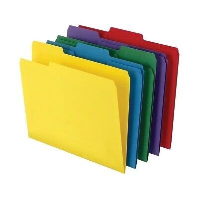 Staples Colored Top-tab File Folders 3 Tab 5 Color Asst Letter Size 100pk