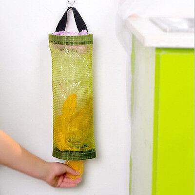 Home Grocery Bag Holder Wall Mount Storage Dispenser Plastic Kitchen Organizer N