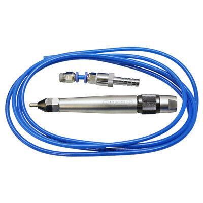 Pneumatic Air Scribe Engraving Pen Pencil Grinder Engraver Tool Chisel Tip Hose