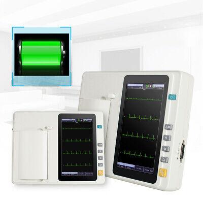 7 Digital 6 Channel Electrocardiograph Ecgekg Machine With Interpretation Fda