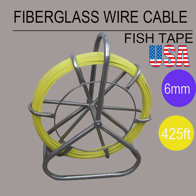 Fish Tape Fiberglass Wire Cable Running Rod Duct Rodder Fishtape Puller 6mm Ce
