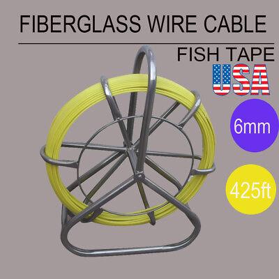 Fish Tape Fiberglass Wire Cable Running Rod Duct Rodder Fishtape Puller 6mm Ce