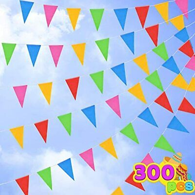 300 Pennant Flags 375ft Colors Nylon Banner For Grand Opening Carnivals Party