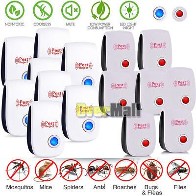 20x UPGRADED ULTRASONIC PEST REPELLER CONTROL RAT COCKROACH ANT FLY FLEA PESTS