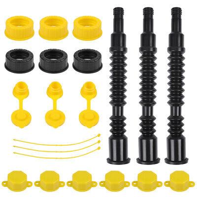 3 Set Flexible Gas Spout Replacement Long Plastic Gas Can Fill Kit Fuel Diesel