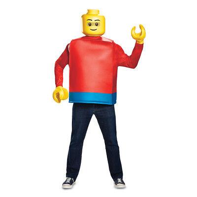 Mens Classic Lego Guy Halloween Costume - Lego Costume Adult