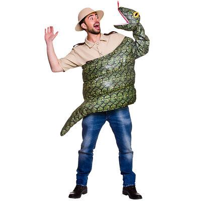 Erwachsene Schlange Kostüm Reptil Kostüm Outfit Herren Damen Deluxe - Reptilien Kostüm