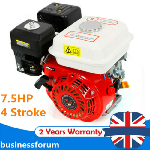7.5HP 4-Stroke Petrol Engine Rotavator Pressure Washer Engine Gasoline Engine UK