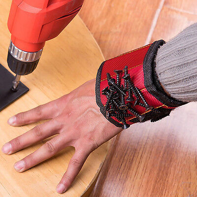 - Magnetic Wristband Pocket Handy Tool Belt Nails Bolts Screws Holder Organizer