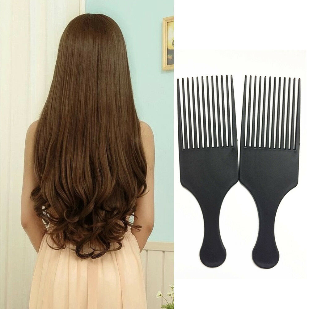 Afro Comb Curly Hair Brush Salon Hairdressing Styling Long Tooth Styling Pick sy