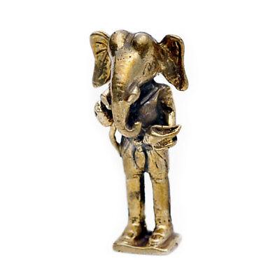 Vietguild/'s Ganesh Ganpati Elephant Bronze Figurine Statue Amulet