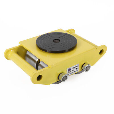 6t Machinery Mover Heavy Duty Machine Dolly Skate Roller Machinery Mover Yellow