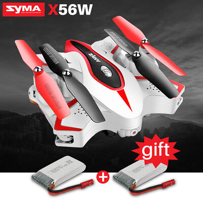 Syma X56W Foldable 640P HD Camera Drone Wifi FPV App RC Quadcopter 2 Batteries
