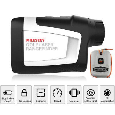 Mileseey 650 Yards Golf Laser Range Finder with Flag Lock, Slope Off & Vibration