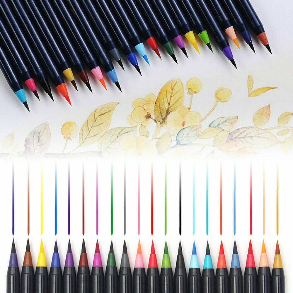 New 20 Colors Art Oil Pen Set Watercolor Drawing Painting Brush Sketch Manga Hot