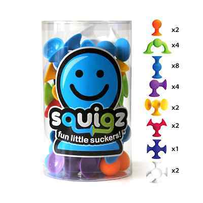 Squigz Starter 24 Piece Set Kids Fat Brain Toy Co. Creativity Fine Motor Skills