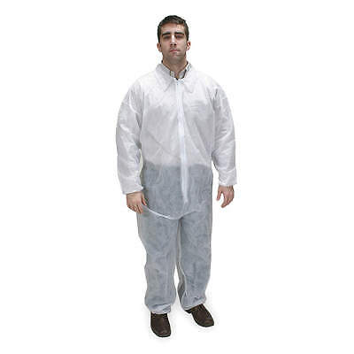 25 New White Disposable Coveralls 4xl With Elastic Wrist Ankle