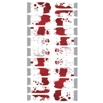 Winstonia Nail Wraps Bloody Halloween Hand Print Decal Sticker Easy Manicure Art - Halloween Easy Nails