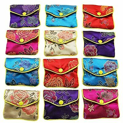 Jewellery Jewelry Silk Purse Pouch Gift Bags Multiple Colors Pack Of 12 Home
