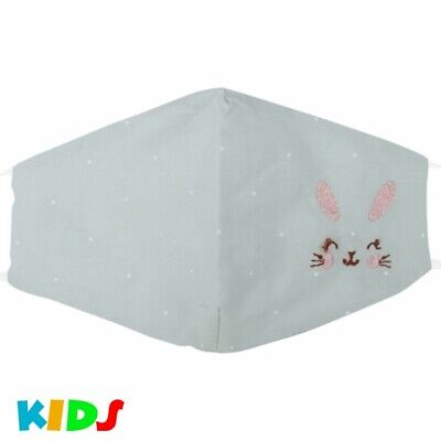 Stoffmaske Kindermaske Mundschutz Maske Hase Pastell Grün Junge Mädchen Punkte