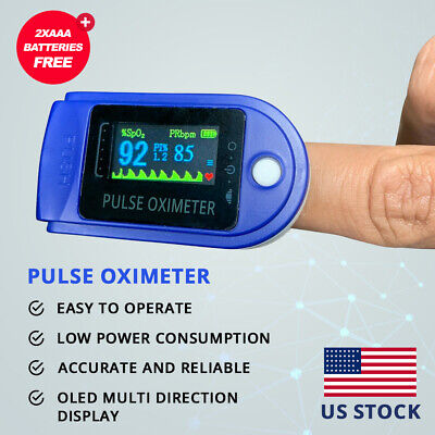 Fda Ce Oled Pulse Oximeter Blood Oxygen Meter Spo2 Heart Rate