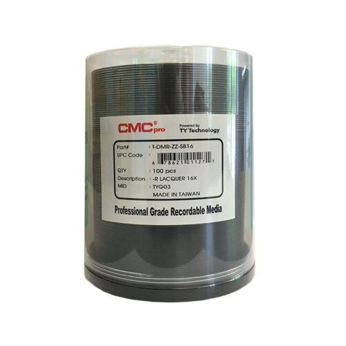100 CMC Pro Taiyo Yuden (TDMR-ZZ-SB16) 16X DVD-R Silver Lacquer Media