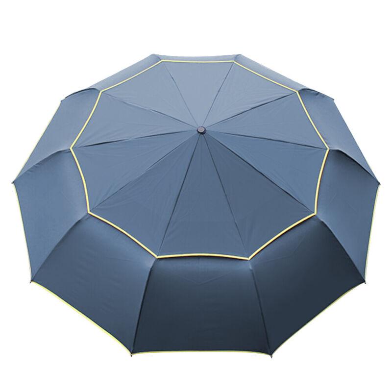 Oversize Golf Umbrella Large Windproof Anti UV Rain Sun Folding Canopy Blue