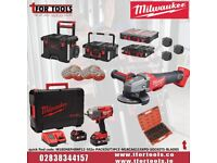 Milwaukee Impact Wrench Kit + PACKOUT Modular System + FUEL Grinder