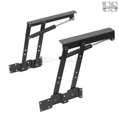 Lift Mechanism (2pcs Lift Up Top Coffee Table Lifting Frame Mechanism Spring Gas Hydraulic Hinge )