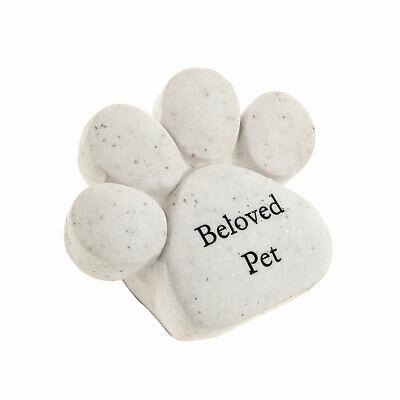 Memorial Pet Paw Beloved Pet - Grave Stone - Cat Dog Beloved Pet Memorial Stone