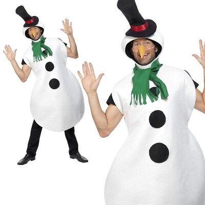 Erwachsene Schneemann-Kostüm Weihnachten Herren Damen Olaf - Schneemann Kostüm Damen
