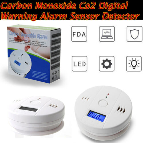 CO Carbon Monoxide Detector Fire Security Sensor Voice Alert
