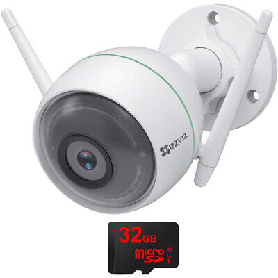 EZVIZ C3WN 1080p Outdoor Security Camera + 32GB MicroSD Memory Card