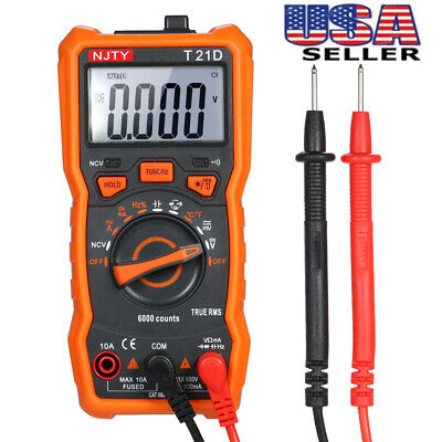 Digital Multimeter 6000 Counts Non Contact True Rms Meter Acdc Voltage Tools
