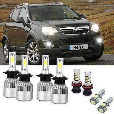 Vauxhall VX220 55w Clear Xenon HID Low Dip Beam Headlight Headlamp Bulbs Pair