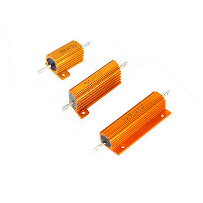 2pcs 2550100w 0.1-100k Ohm Shell Power Aluminum Housed Case Wirewound Resistor