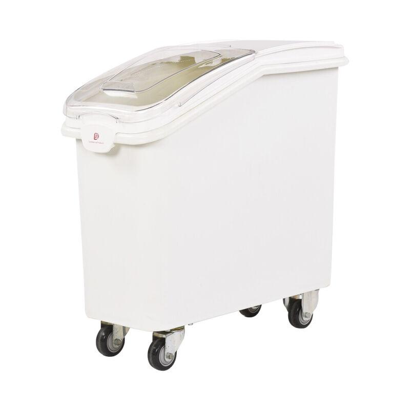 21 Gallon Mobile Ingredient Storage Bin with Sliding Lid & Scoop