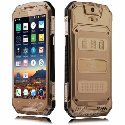 "New 8GB 5"" Touch Shockproof Phone Smart Mobile CellPhone Unlocked Quad Core 2Sim"
