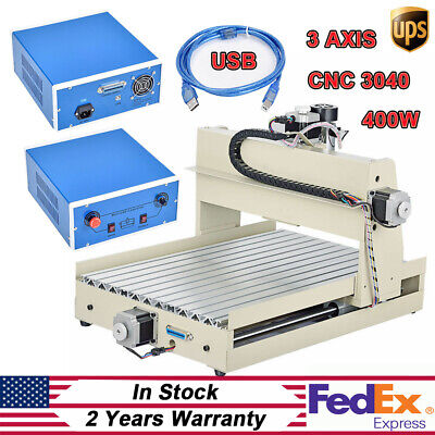 400w Cnc Router Engraver 3040 Desktop Usb 3axis Engraving Machine Woodworking