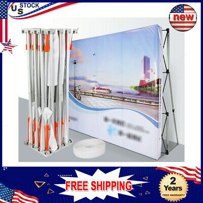 8 Feet Tension Pop Up Display Backdrop Stand Trade Show Exhibition Booth Wall Us