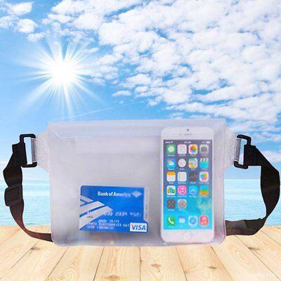 Dry Underwater Waist Bag Waterproof PVC Clear Pouch 3 Zipper Locks Screen Touch